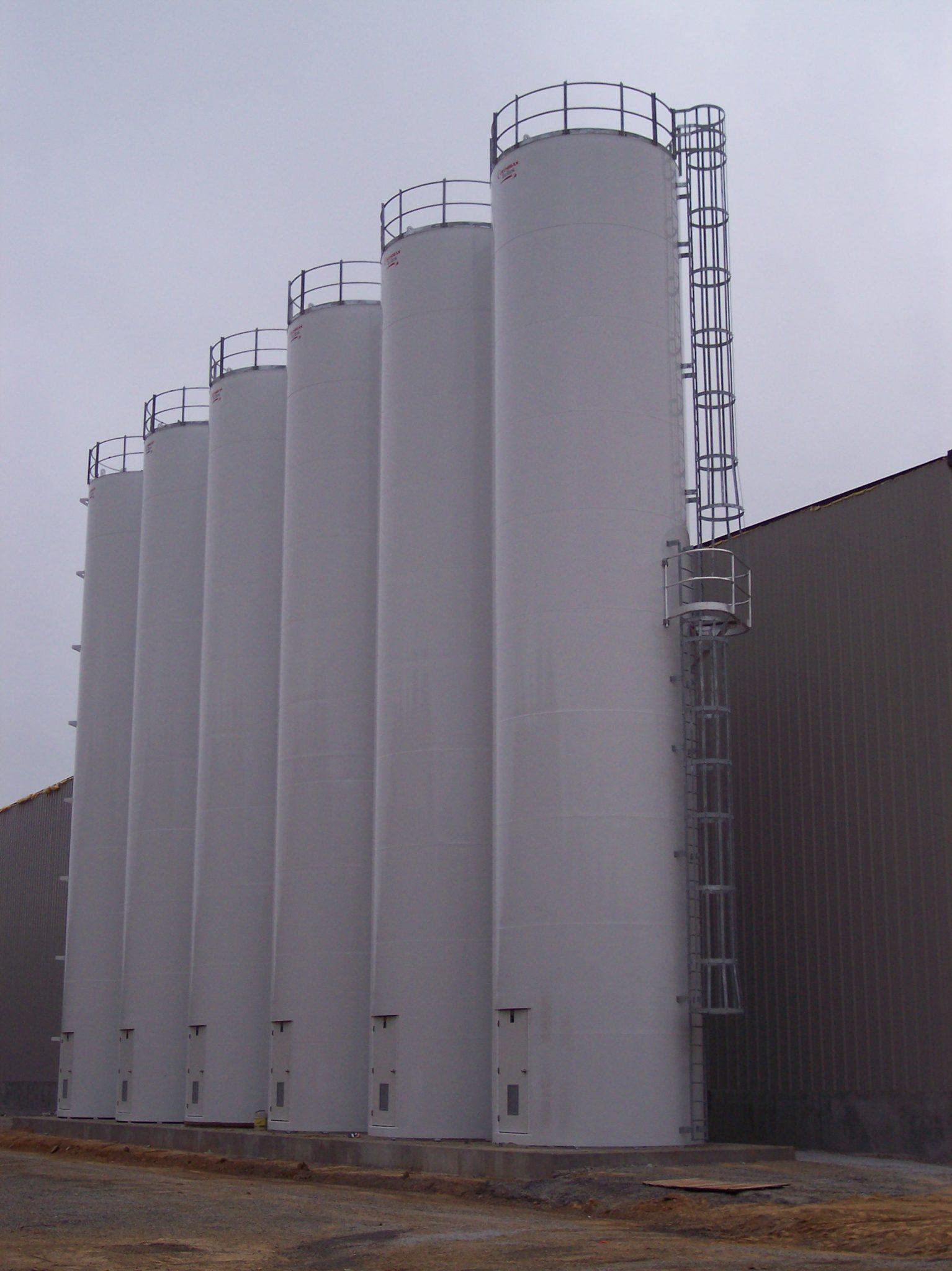 Food Storage Silos Wheat Corn Flour Sugar And Milk