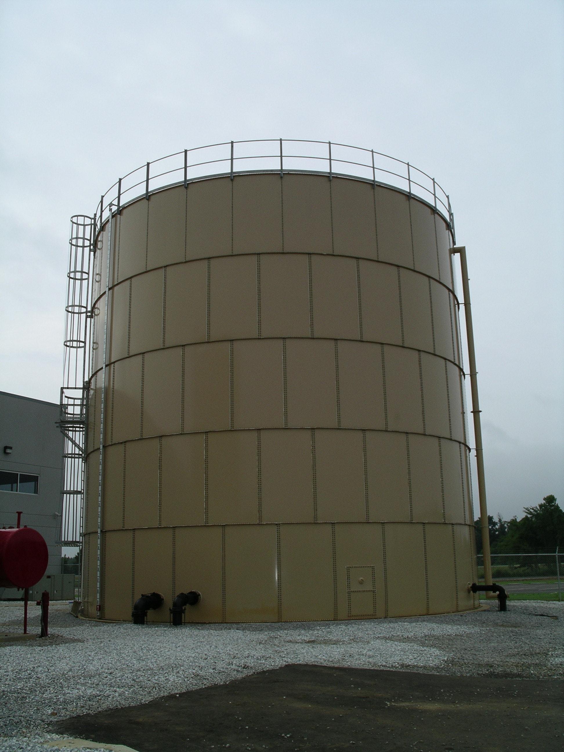 Samoa Hydrotec tectank epoxy coated liquid storage tanks manufacturer | cone roof